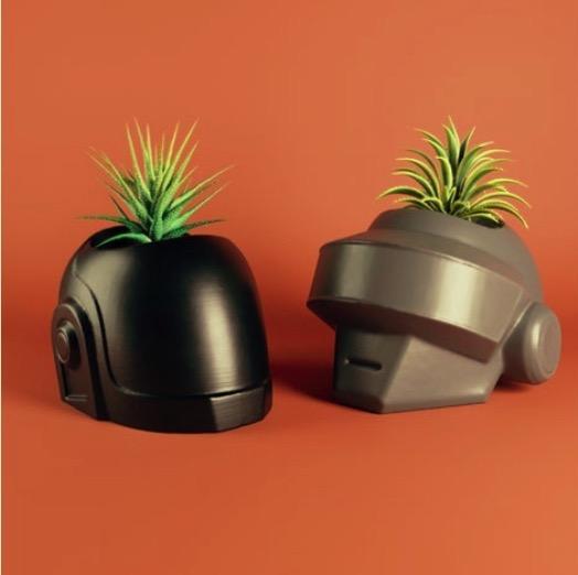 Daft Punk plant pot by angel greenwood Thingiverse