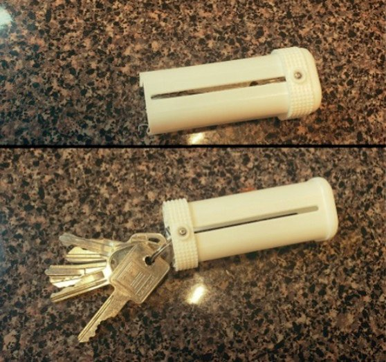 Retractable key case by keycaps Thingiverse