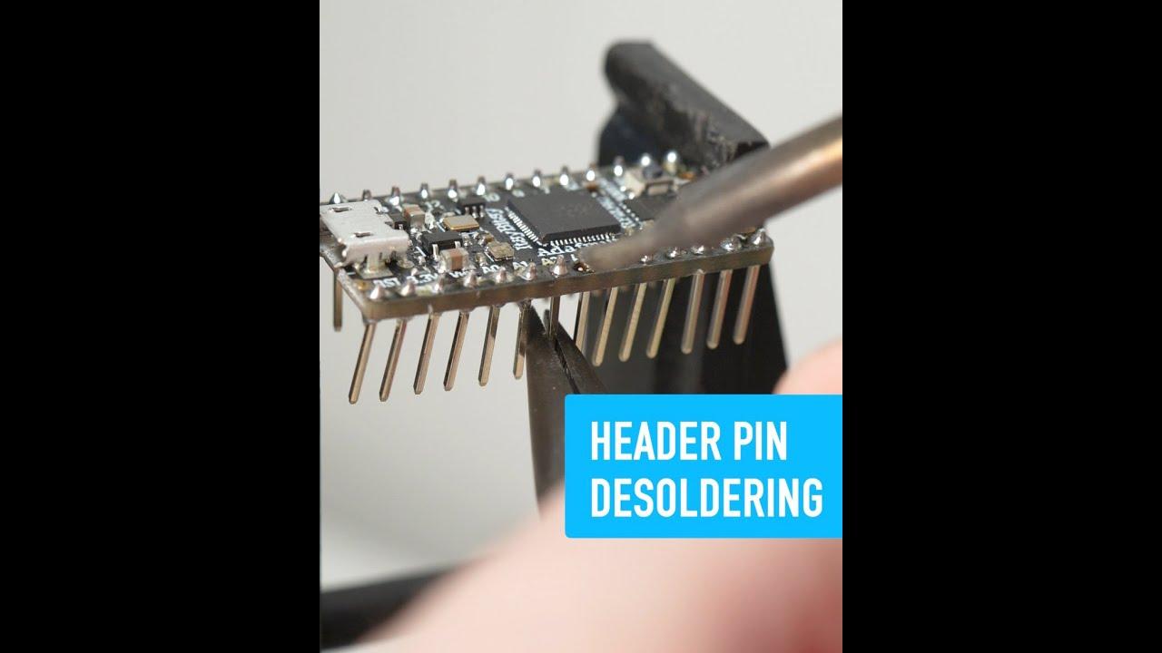 NEW VIDEO: Desoldering Header Pins – Collin's Lab Notes #adafruit #collinslabnotes