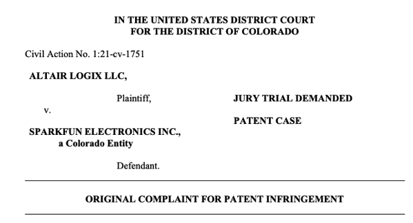 Sparkfun patent
