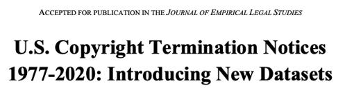 Copyright Termination Notices