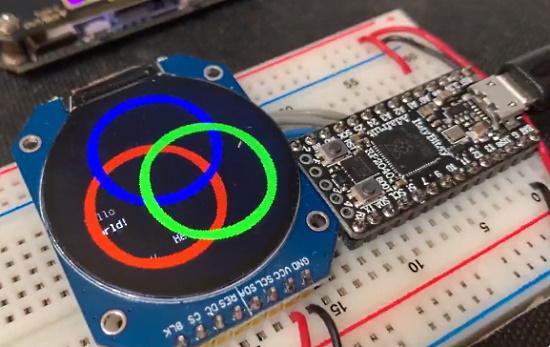 Round LCDs in CircuitPython