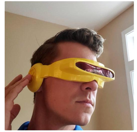 Cyclops Visor by drewgolas Thingiverse