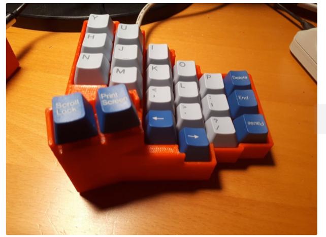 Fish Ladder Mk 4 Keyboard Matias Switches by ak666666 Thingiverse