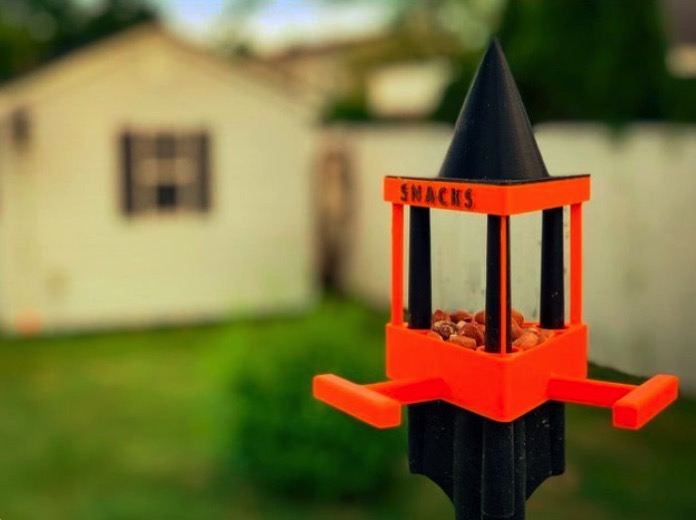 Banners and Alerts and Bird Snack House for Brome SquirrelBuster Pole Adapter by jimerb Thingiverse