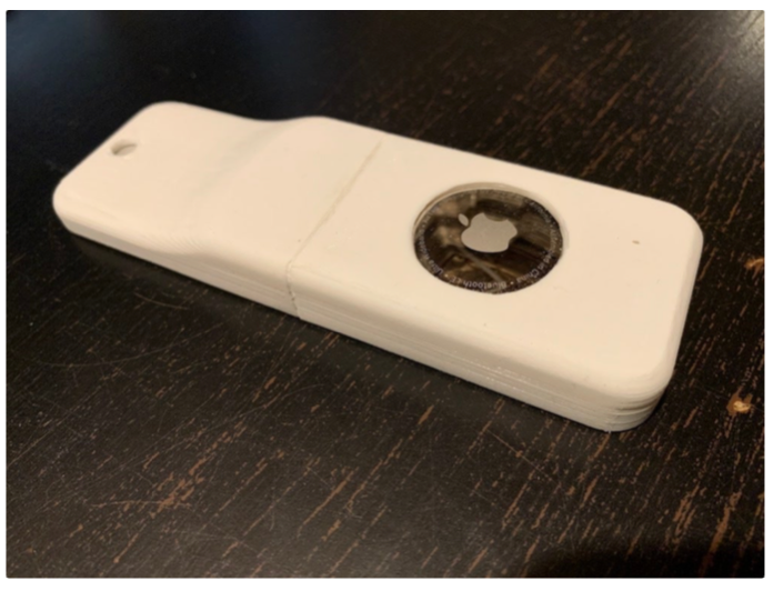 Makes for Original Siri Remote Holder with AirTag by makanadumlao Thingiverse