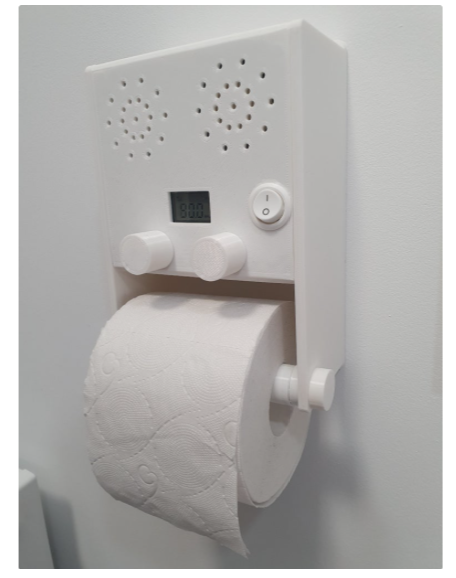Radio toilet paper holder by ansisliepkalns Thingiverse
