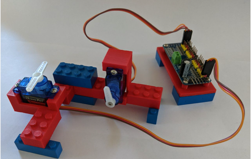 Servo motor and PWM controller LEGO connectors by Geoff B UK Download free STL model PrusaPrinters