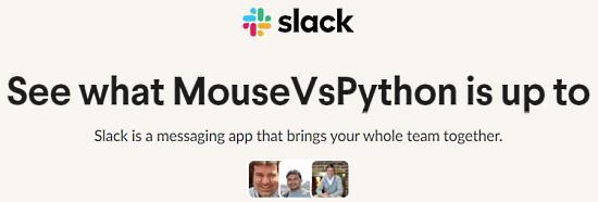 Mouse vs. Python Slack