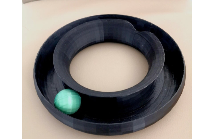 Cat toy circle circuit with ball by francescopalazzo3 Thingiverse