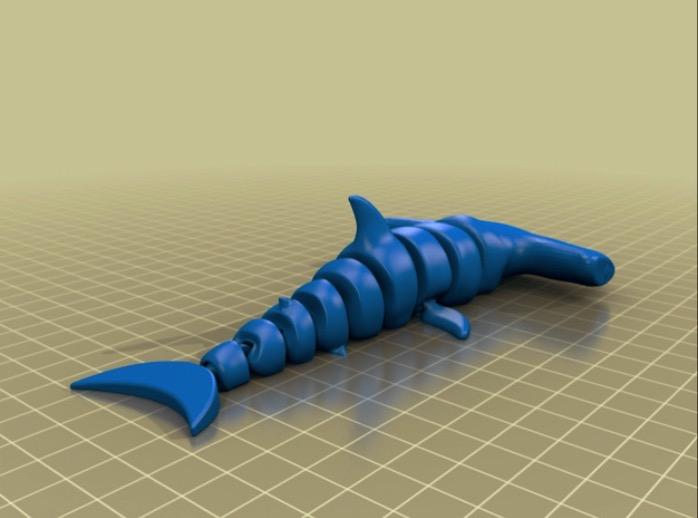 Hammerhead shark by ingridyun Thingiverse