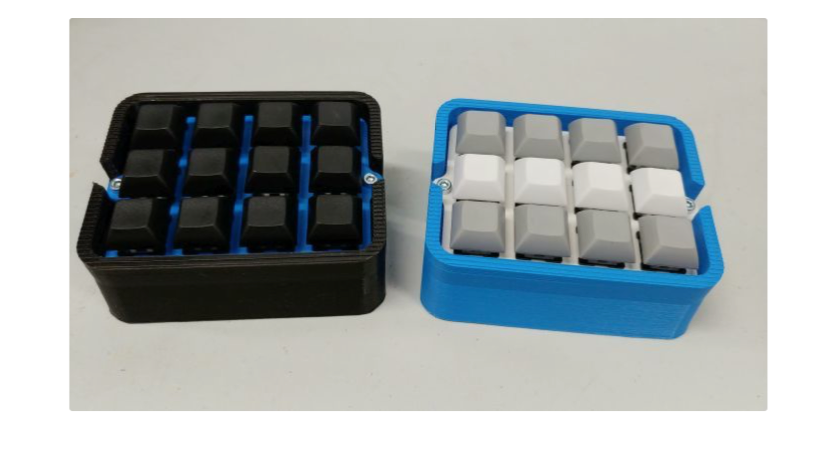 12 Key Mini Macro Keyboard by BusioMeister Thingiverse