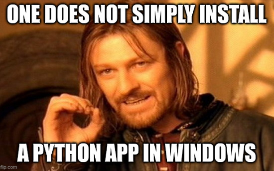 Python Apps on Windows