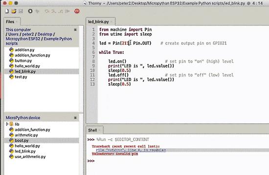 How to debug a MicroPython program