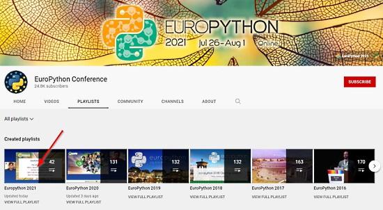 EuroPython Talks
