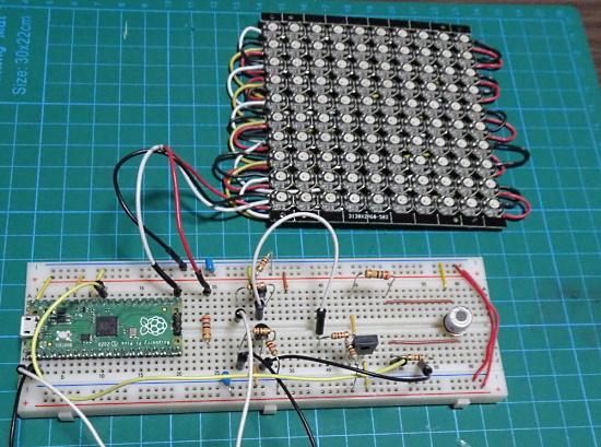 Odor sensor using an LED array