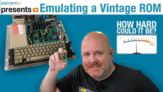 Emulate a vintage ROM or EPROM with a Raspberry Pi Pico and CircuitPython
