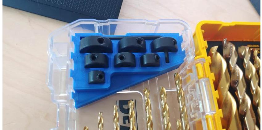 Dewalt Drill Bit Set Depth Stop Holder by MightyMule Thingiverse