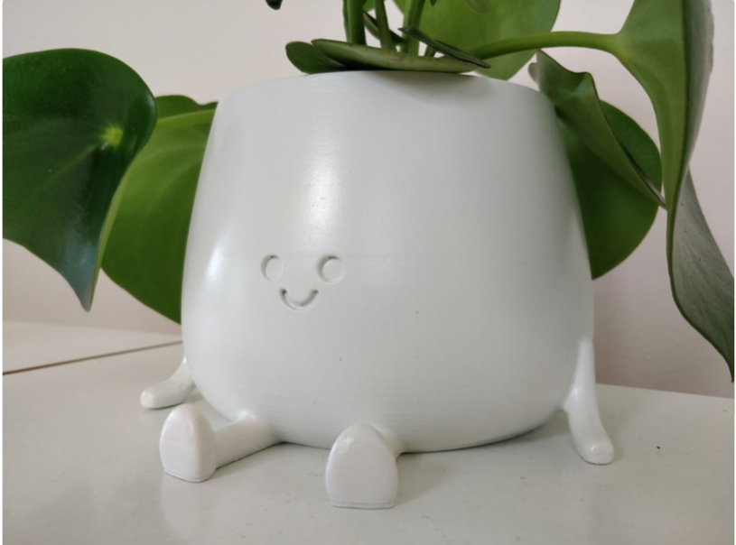 Fat Happy Sitting Pot by fishbowl38 Thingiverse