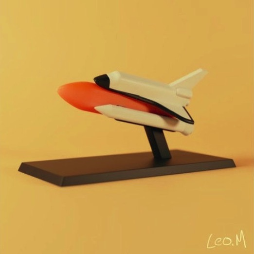 Space Shuttle model by finished prints Thingiverse