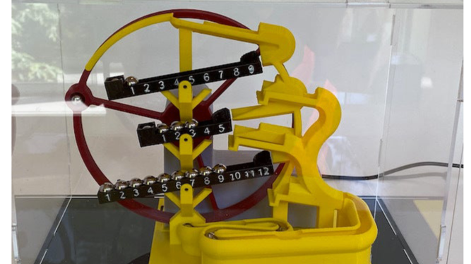 Marble Clock Time Rolls On by HFoG Thingiverse