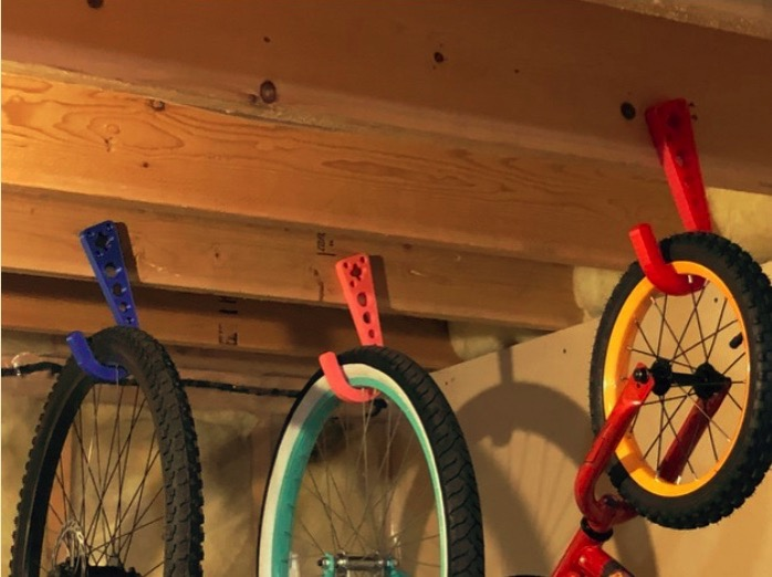 Floor Joist Bicycle Hook by CUBEd 3D Thingiverse