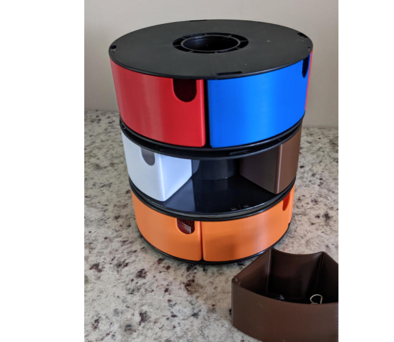 Spool Box Stack with Bearing by pjm237 Thingiverse