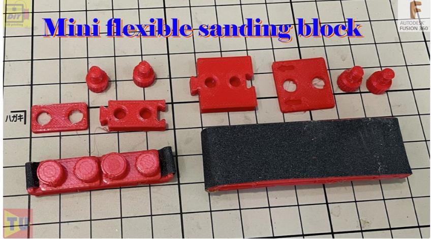 Mini flexible sanding block upgraded version by zhwang168 Thingiverse